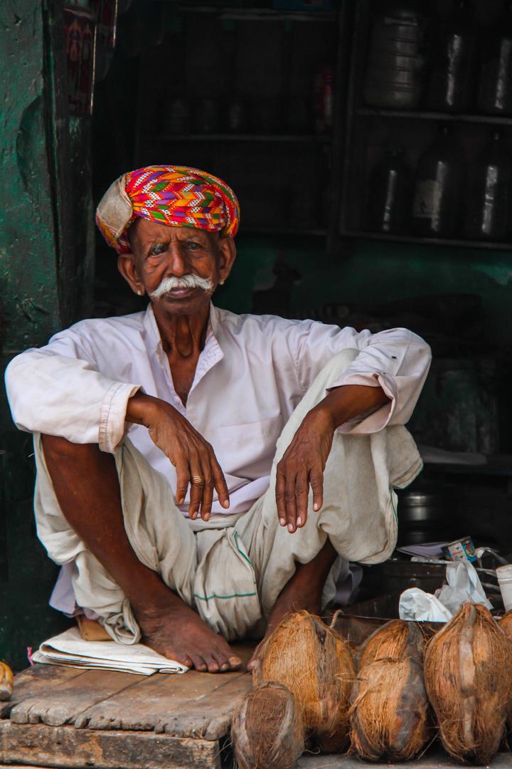 "© Hugo Berman, ""Coconut Seller, Udaipur, India"", 2013"